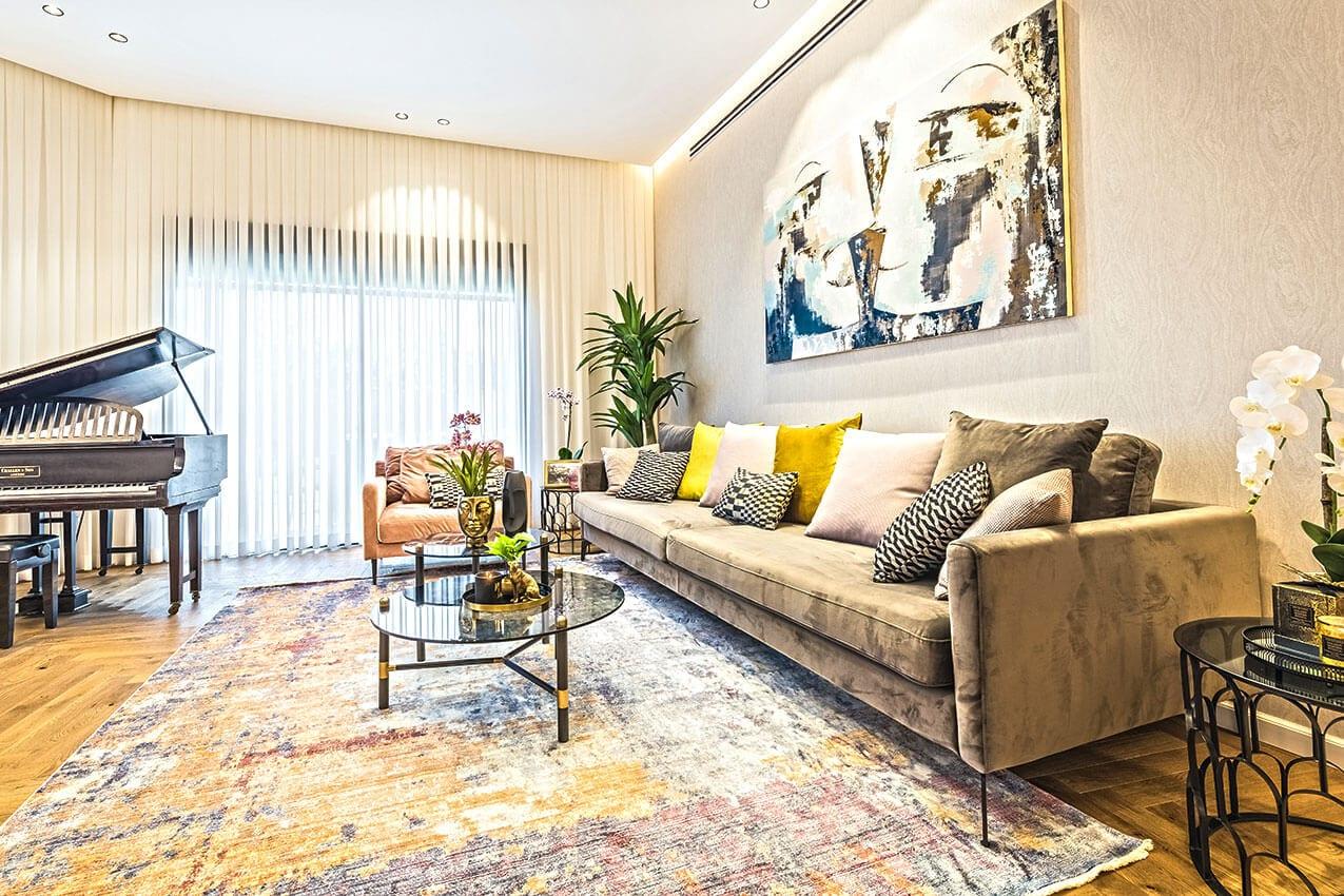 עיצוב פנים של דירת גן, אדריכלית ומעצבת פנים דובניקוב מריאנה מיטל שומר מסטודיו - אלמנטס אדריכלות ועיצוב פנים