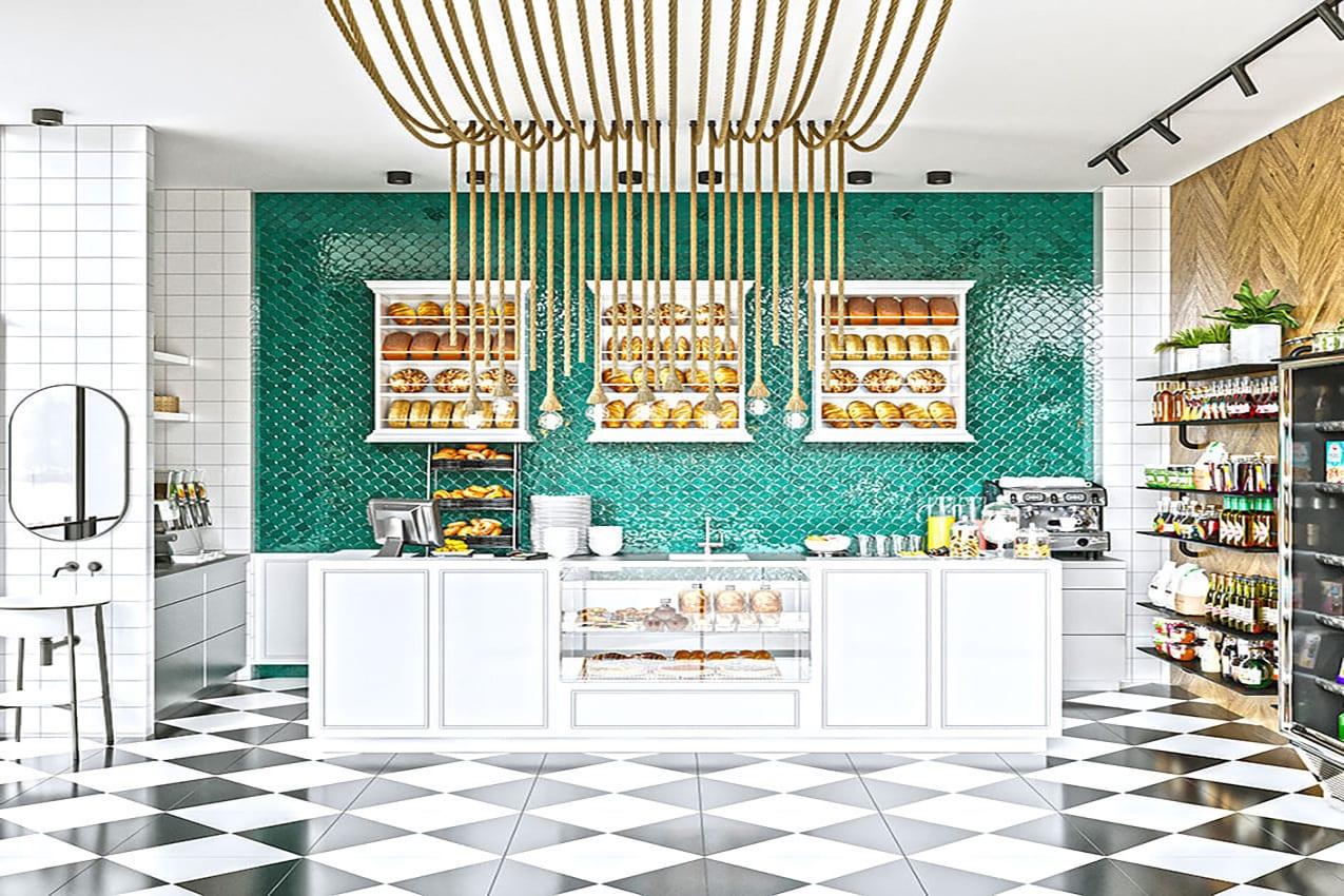 עיצוב חנות בוטיק / בית קפה אדריכלית ומעצבת פנים דובניקוב מריאנה מיטל שומר מסטודיו - אלמנטס אדריכלות ועיצוב פנים