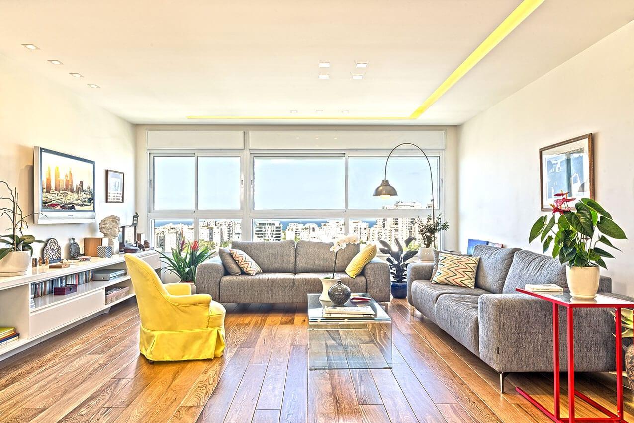 דירה ברמת אביב עיצוב פנים עכשבי תל אביב אדריכלית ומעצבת פנים דובניקוב מריאנה מיטל שומר מסטודיו - אלמנטס אדריכלות ועיצוב פנים